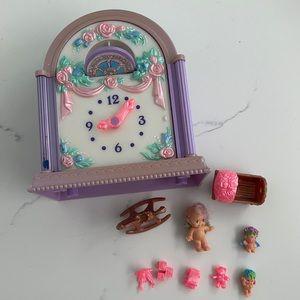Fairy Winkles Twinkle Time Clock vintage set 1993
